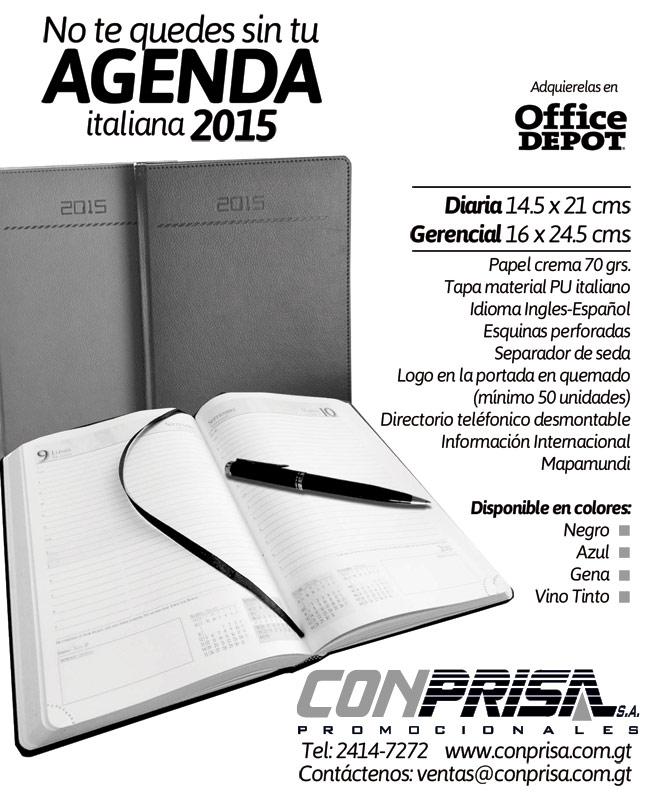 Llego el tiempo de pedir sus agendas Italianas 2015
