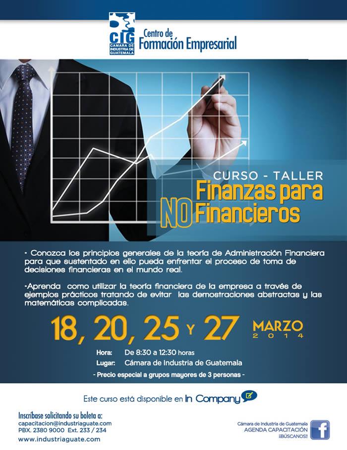 """Curso-Taller """"Finanzas para no Financieros"""""""