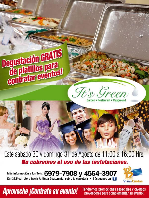 Degustación GRATIS este 30 y 31 de agosto.