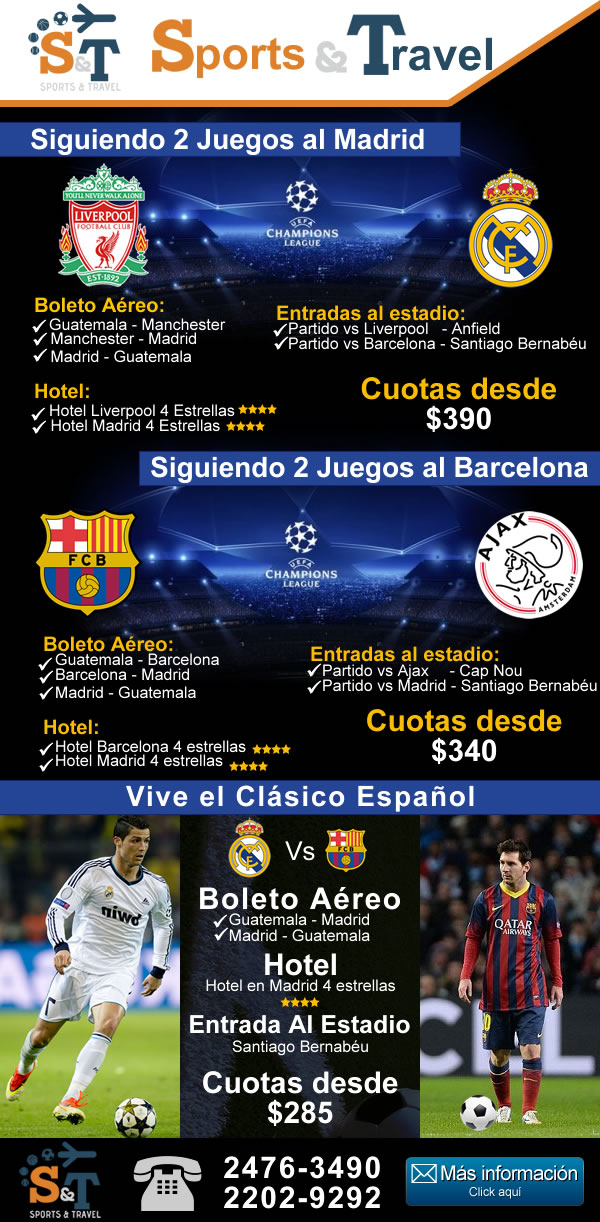 Vive al Real Madrid y Barcelona en vivo
